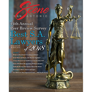 San Antonio Scene 2018 TOP CRIMINAL DEFENSE LAWYERS